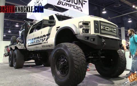 lifted trucks at SEMA auto show
